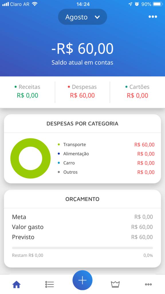 App Mobills - Despsa Criada