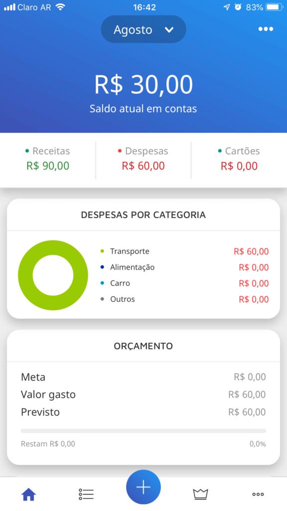 App Mobills - Receita Positiva