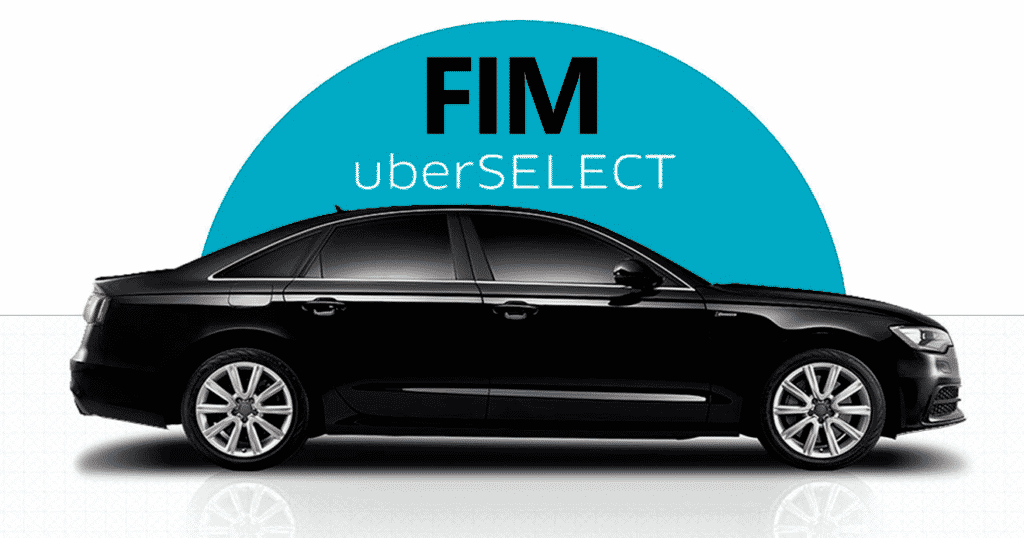 Fim do Uber Select